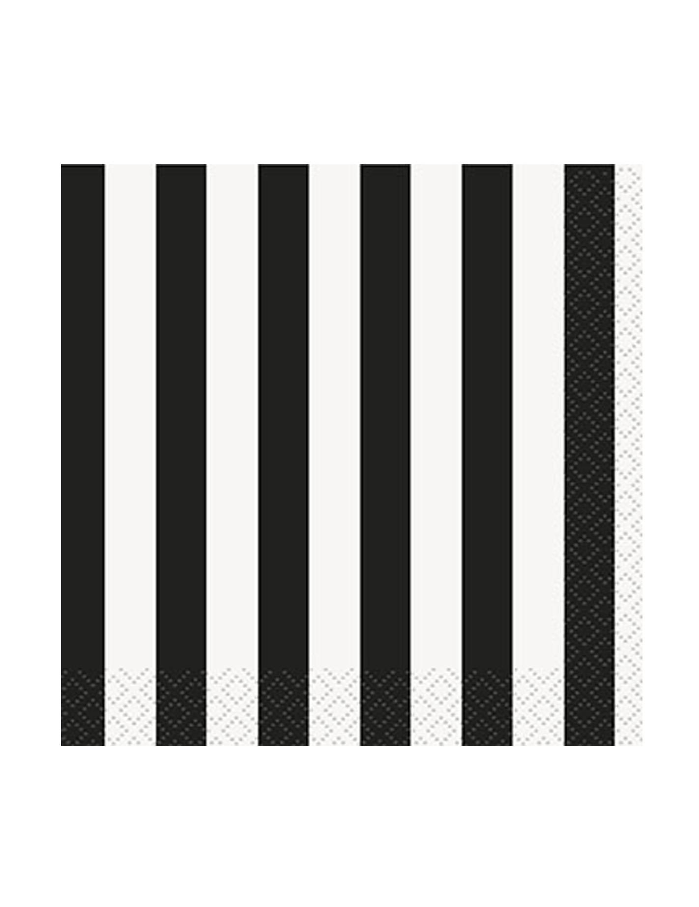 16 piccoli tovaglioli di carta a righe bianche e nere 25 x for Carta adesiva a righe