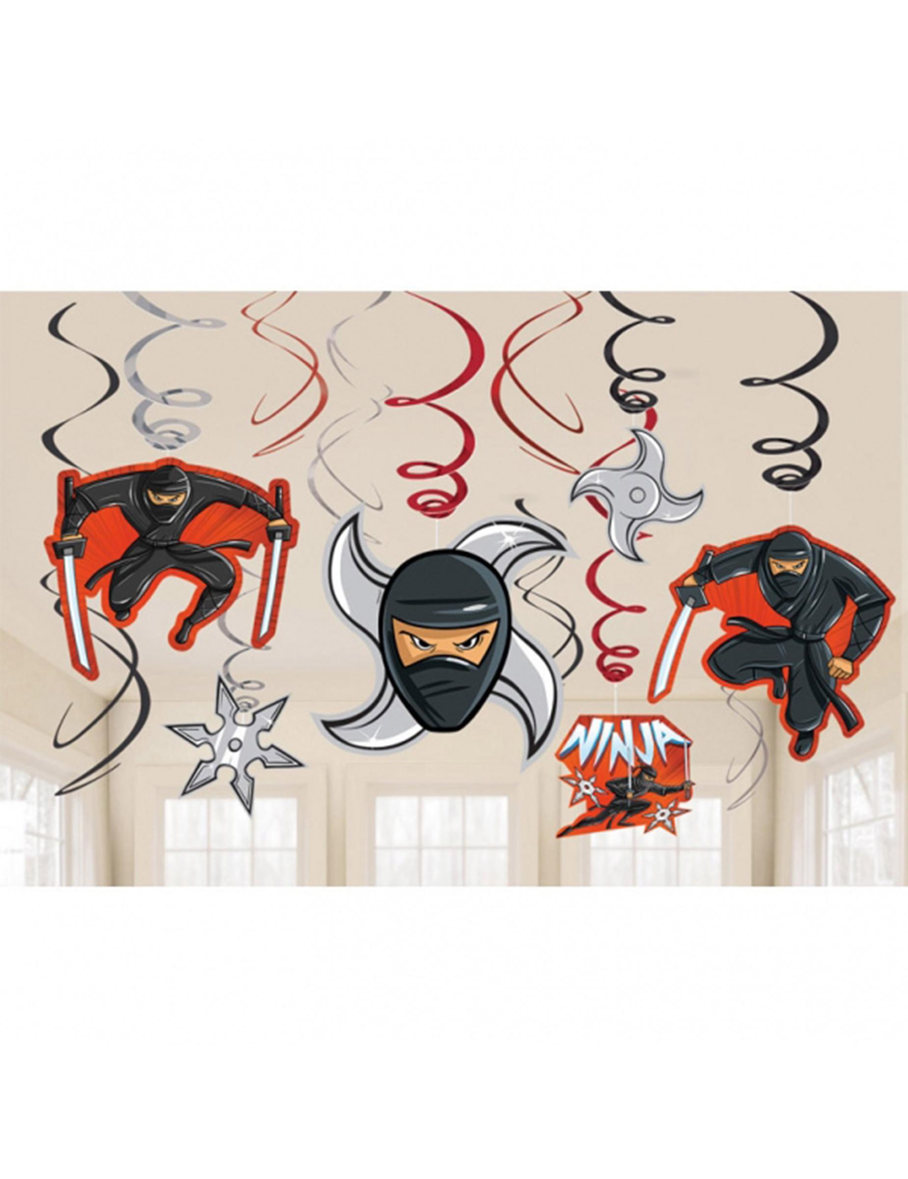 12 decorazioni da appendere ninja su vegaooparty negozio for Decorazioni da appendere