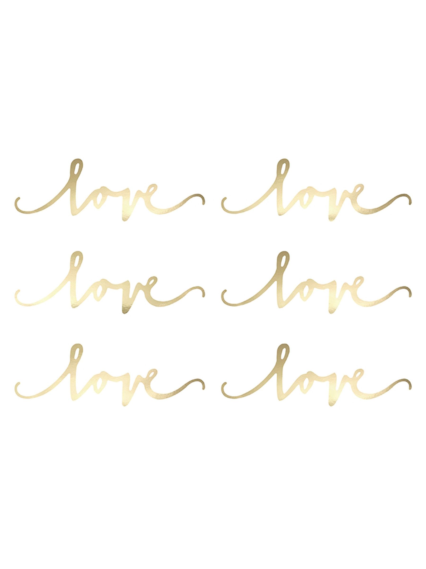 decorazioni da tavola Love oro su VegaooParty, negozio di articoli per ...