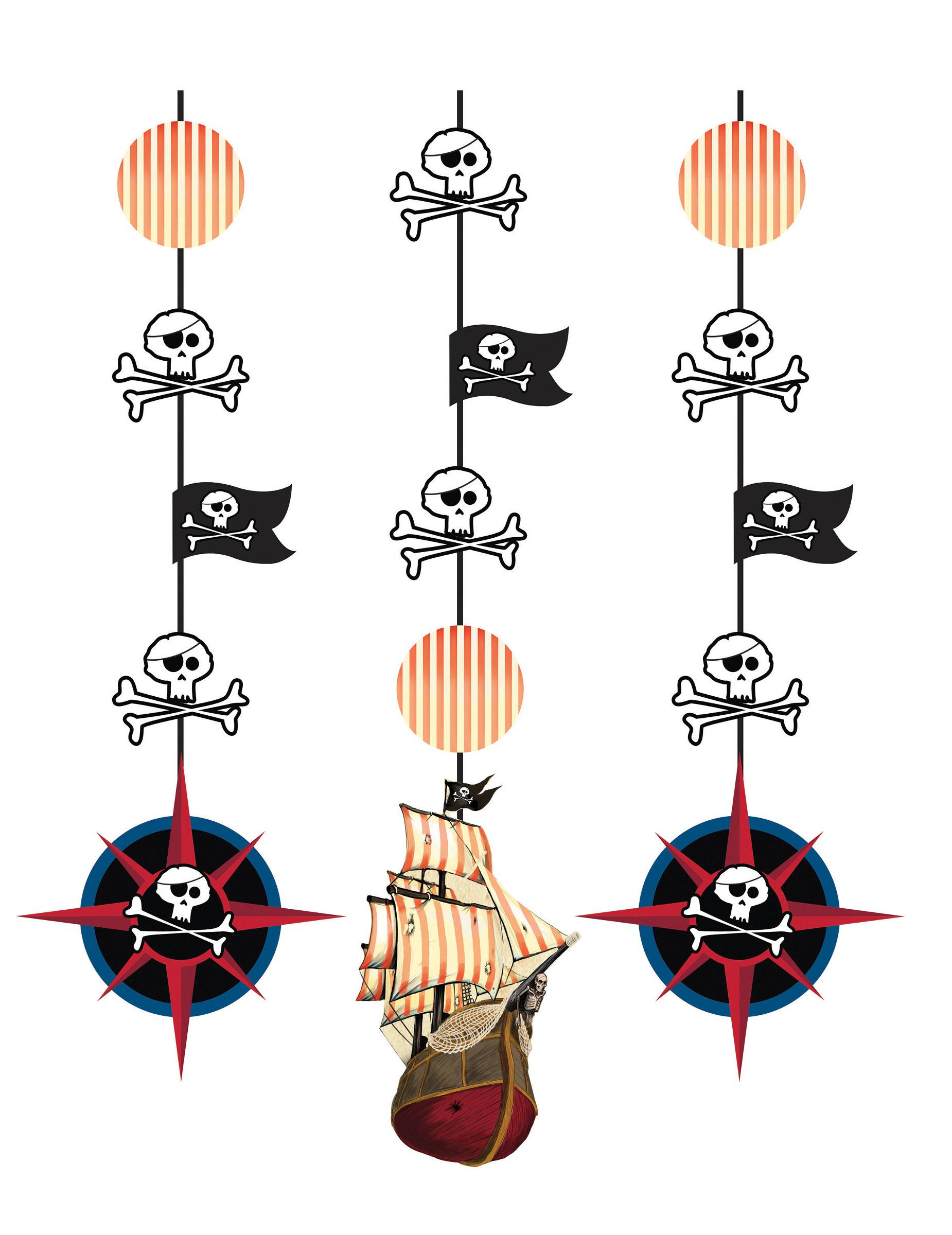3 decorazioni da appendere isola dei pirati su vegaooparty for Decorazioni da appendere