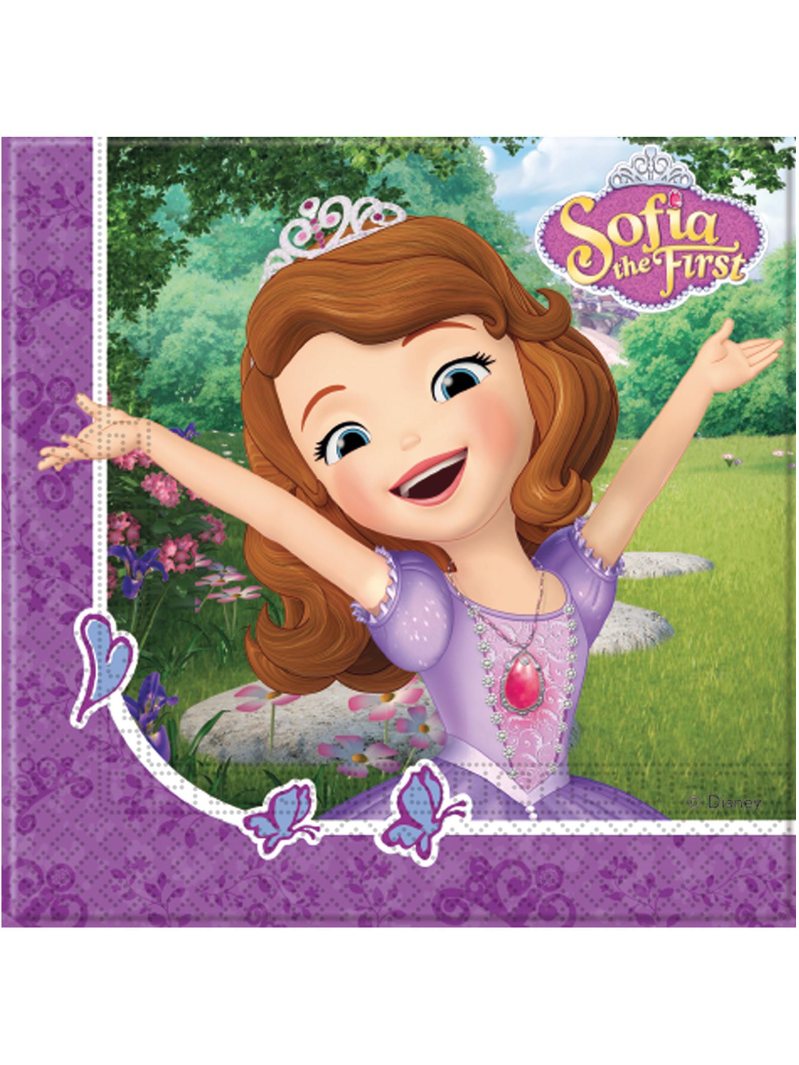 Tovaglioli di carta sofia la principessa e l unicorno