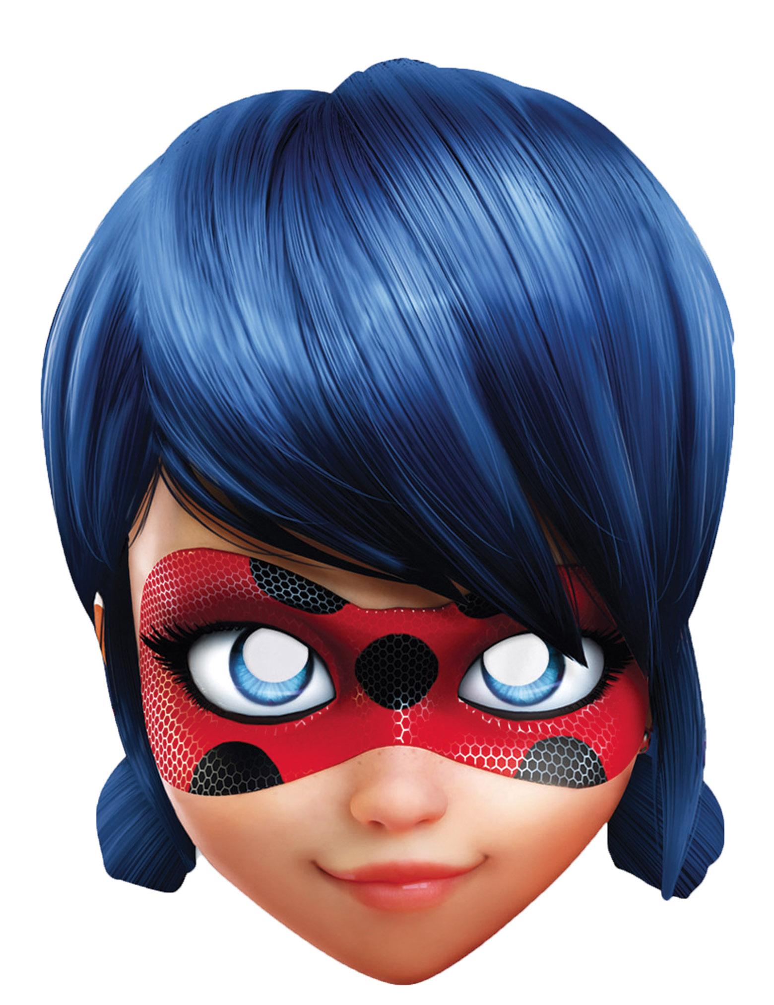 Maschera di cartone lady bug™ per bambino su