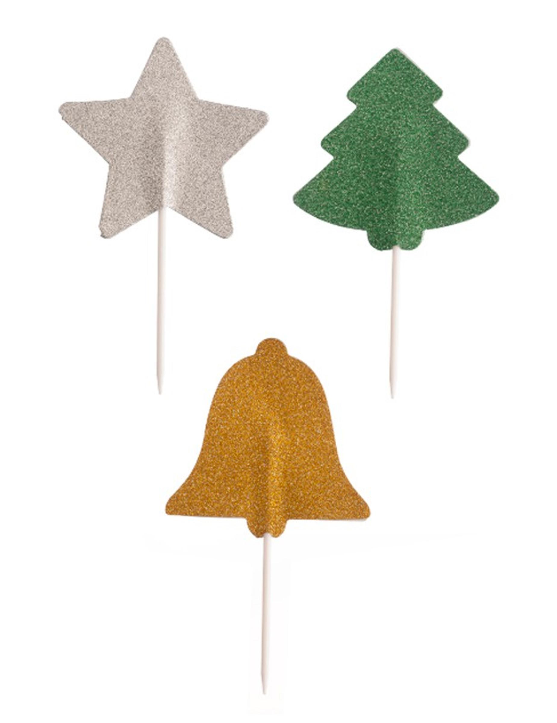 3 decorazioni per dolci natalizie su vegaooparty negozio - Decorazioni natalizie per dolci ...