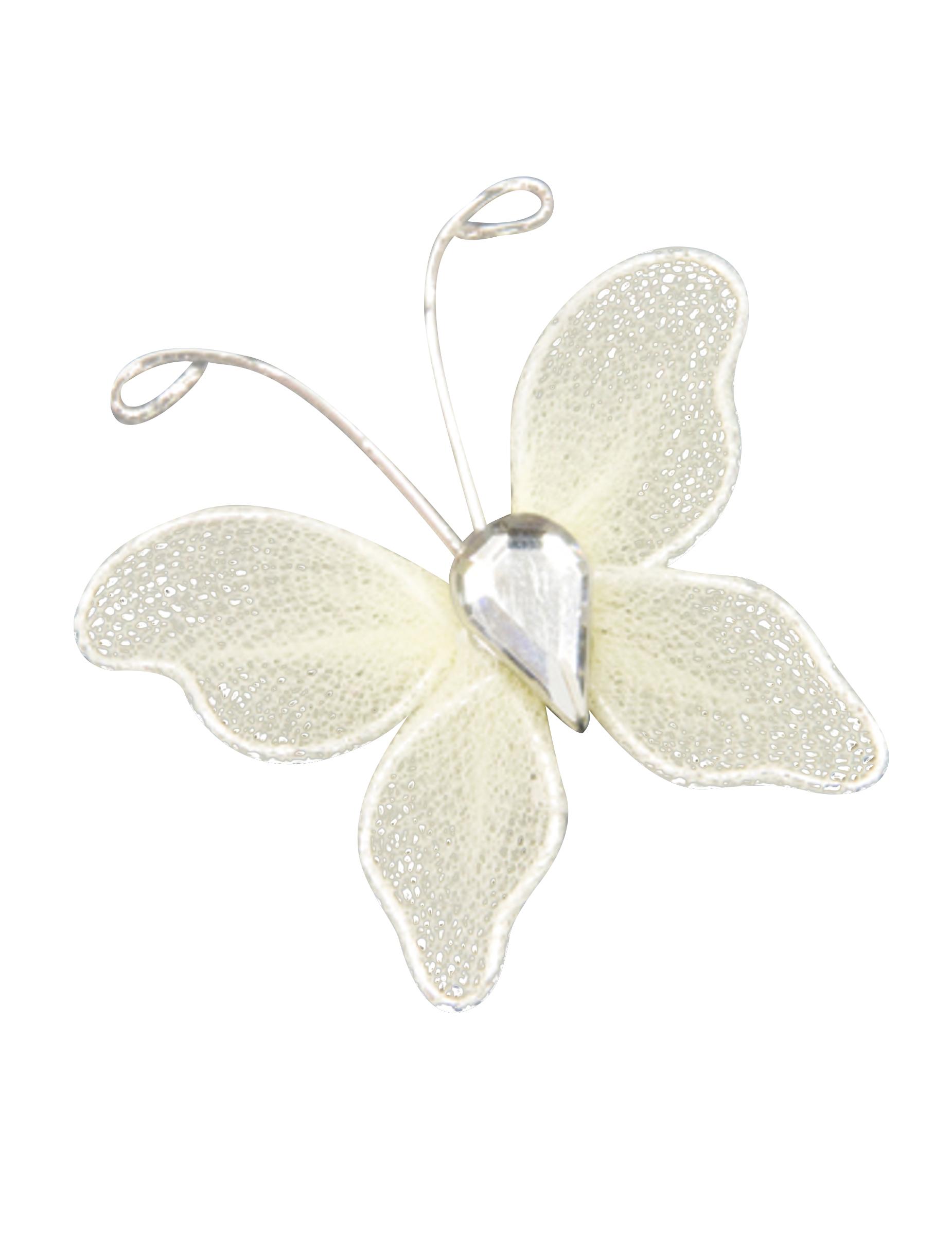 10 mini farfalle decorative avorio su vegaooparty negozio for Farfalle decorative per muri