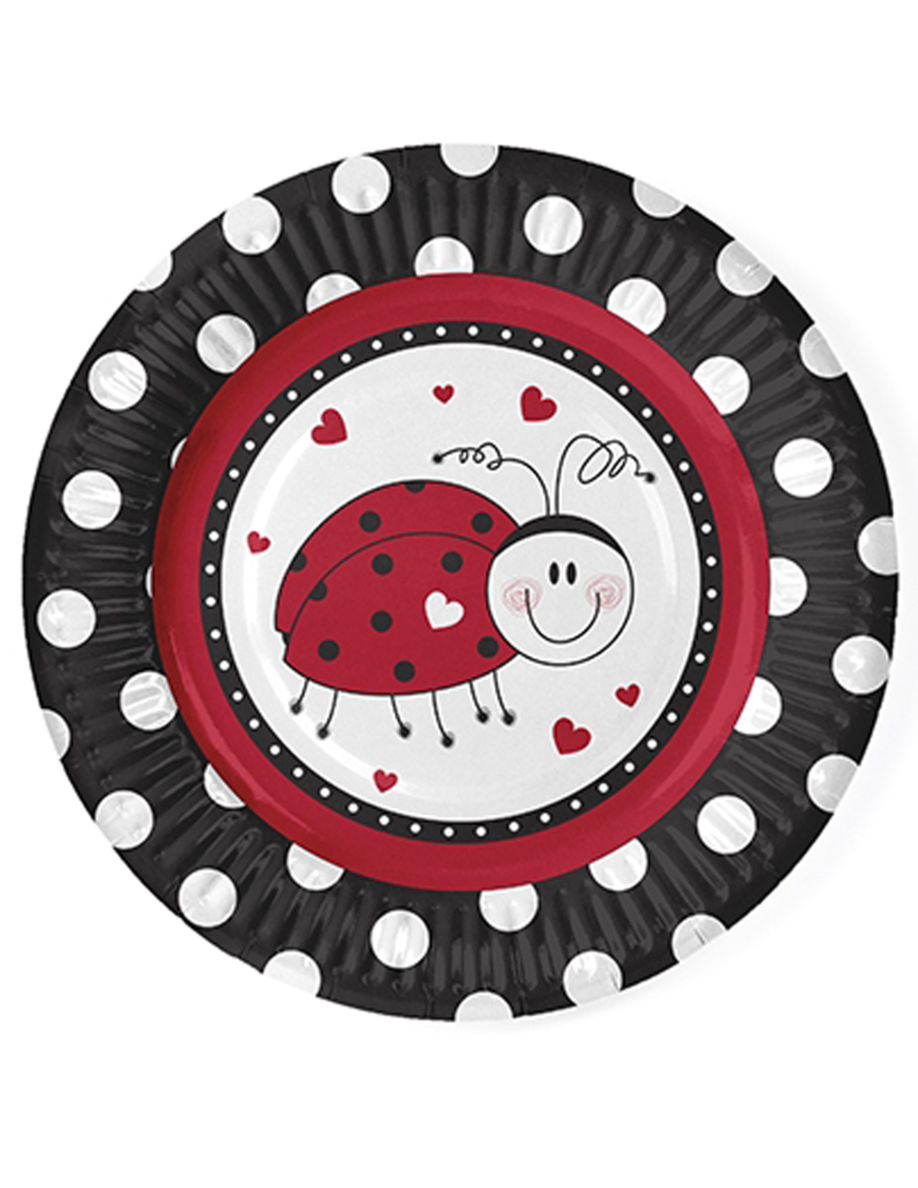 Piattini in cartone con coccinella cm su vegaooparty