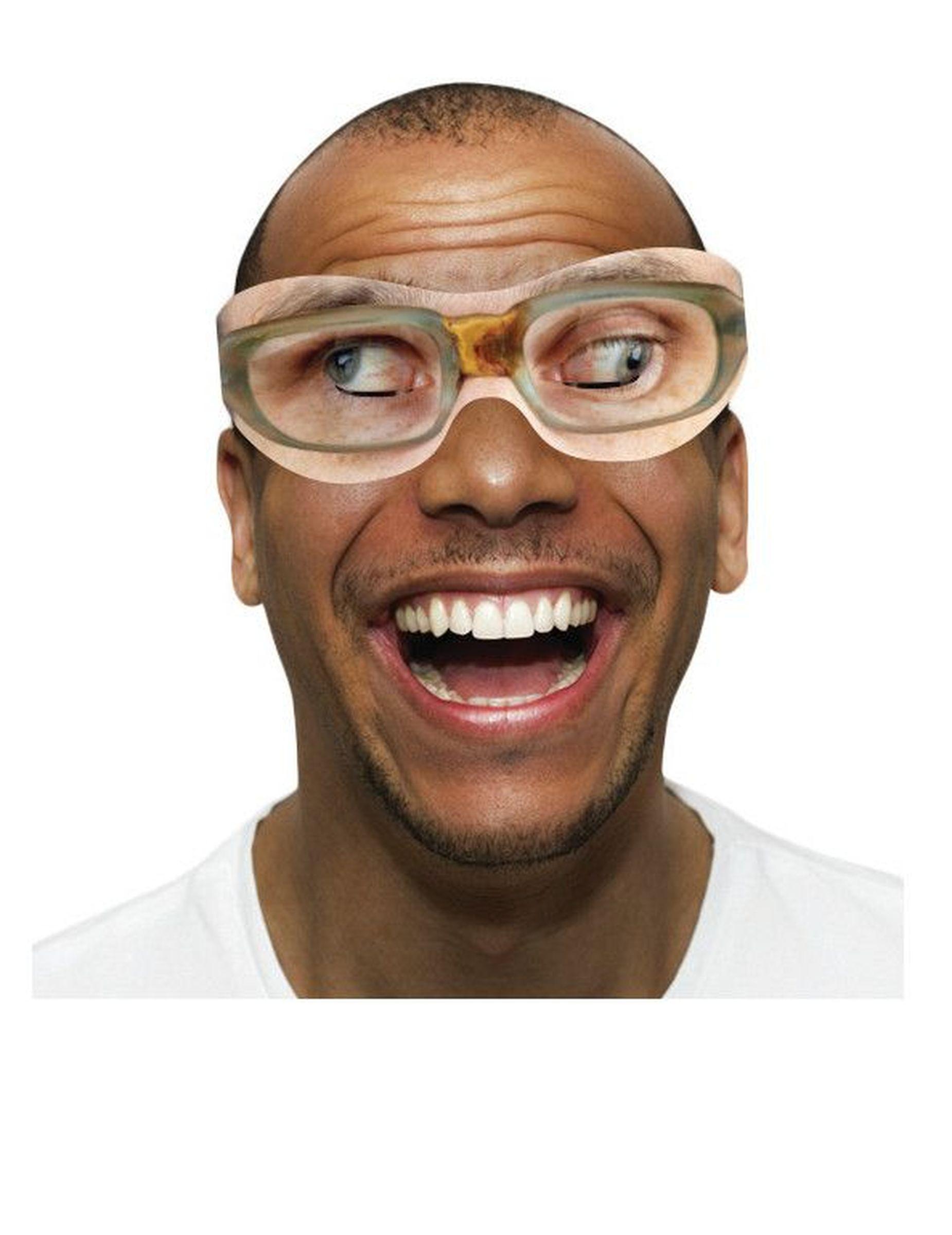 Paia di occhiali umoristici in cartone su vegaooparty