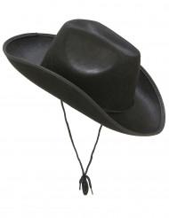 Cappello da cowboy nero per adulto