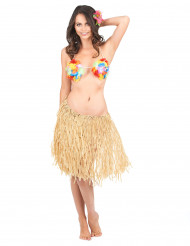 Gonna hawaiana beige adulto