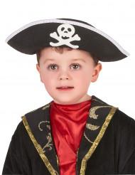 Cappello nero da pirata per bambino