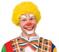 Parrucca da clown gialla per adulto