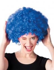 Parrucca riccia blu voluminosa per adulti