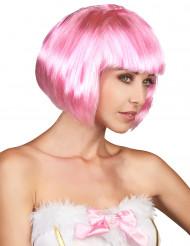 Parrucca donna a caschetto rosa
