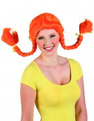 Parrucca arancione con trecce