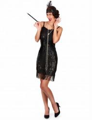 Costume nero charleston da donna