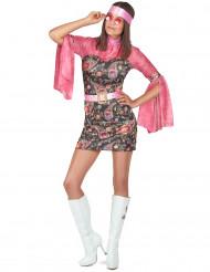 Costume hippie corto da donna