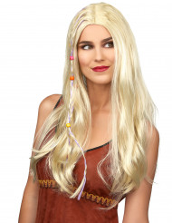 Parrucca bionda hippie per donna