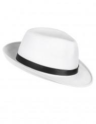 Cappello da gangster bianco e nero per adulti