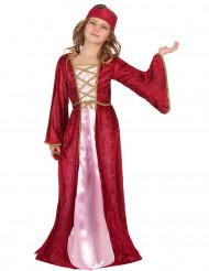 Costume da regina medievale per bambina