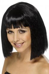Parrucca bruna caschetto lungo per donna