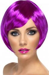 Parrucca corta viola stile cabaret donna