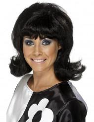 Parrucca bruna anni '60 da donna