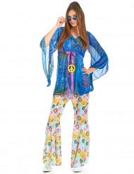 Costume con pantalone floreale hippie da donna