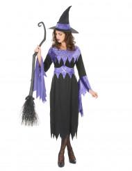 Costume da strega nero e viola