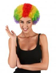 Parrucca riccia multicolor per adulti