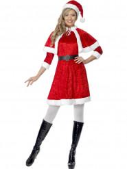 Costume corto Babbo Natale per donna