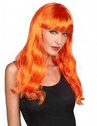 Parrucca arancione lunga da donna