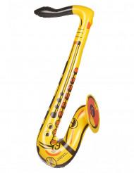 Saxofono gonfiabile di colore giallo