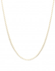 Collana di finte perle bianche