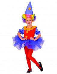 Costume da clown colorato per bambina