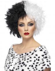 Parrucca stile Crudelia per Halloween