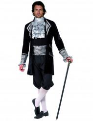 Costume barocco nero ed argento per adulto