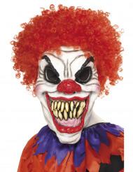 Maschera clown spaventoso con riccioli