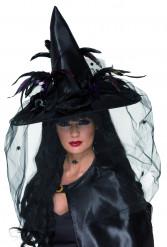 Cappello da strega adulti deluxe Halloween