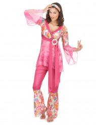 Costume hippie rosa da donna
