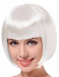 Parrucca bianca corta per donna