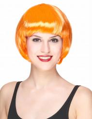 Parrucca arancione corta da donna