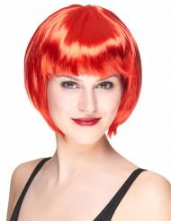 Parrucca corta rossa da donna