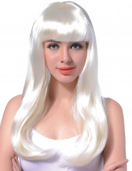 Parrucca lunga bianca da donna