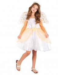 Costume da angelo bianco e oro bambina