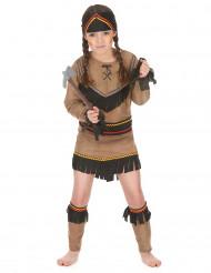 Costume per bambina da indiana