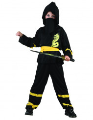 Travestimento ninja nero e giallo bambino