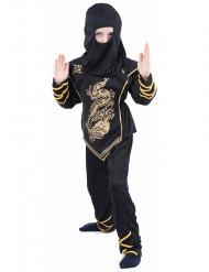 Costume ninja nero e oro per bambino