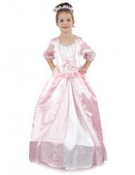 Costume ampio da principessa rosa bambina