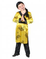 Costume cinesino giallo e nero per bambino