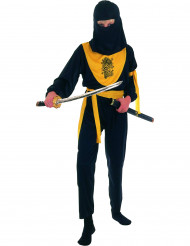 Costume ninja per bambino giallo e nero