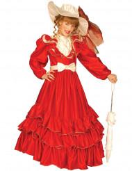 Costume rosso da marchesa per bambina